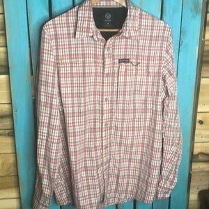 Wrangler Outdoor Regular Fit shirt red plaid Large